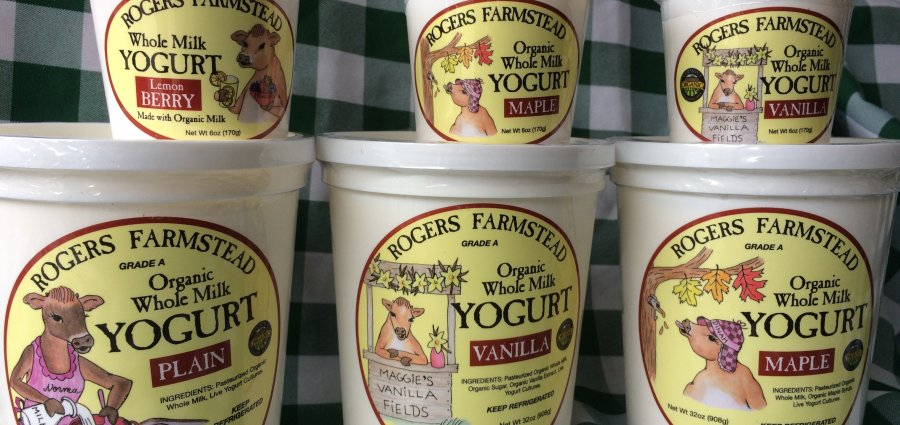 Rogers Farmstead organic yogurt, made in Vermont